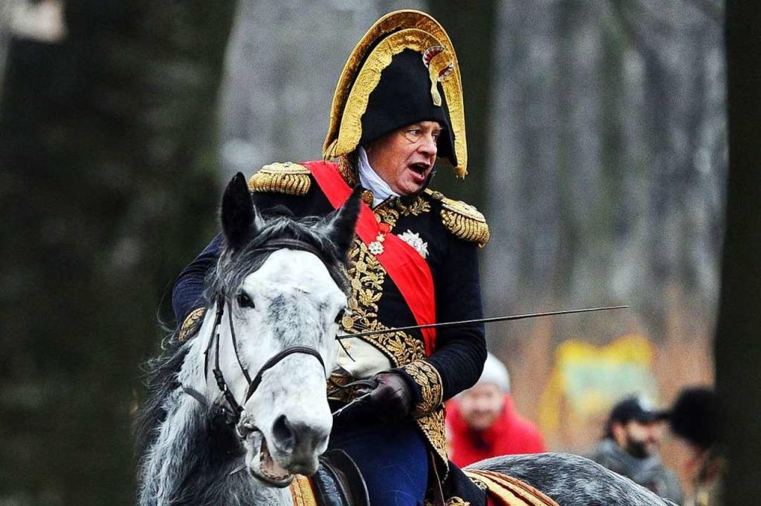 Sokolow bei der Nachstellung einer Napoleon-Schlacht 2014 in St. Petersburg  | Foto: OLGA MALTSEVA (AFP)