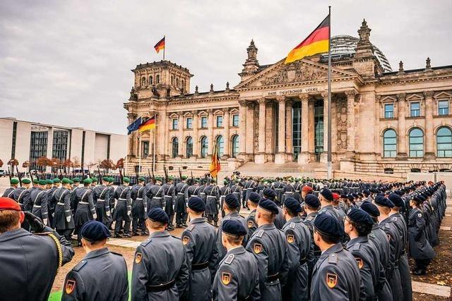Parteien reagieren geteilt auf öffentliche Vereidigung von Rekruten vor Bundestag
