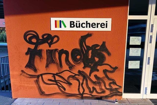 Die Polizei sucht Graffiti-Sprayer