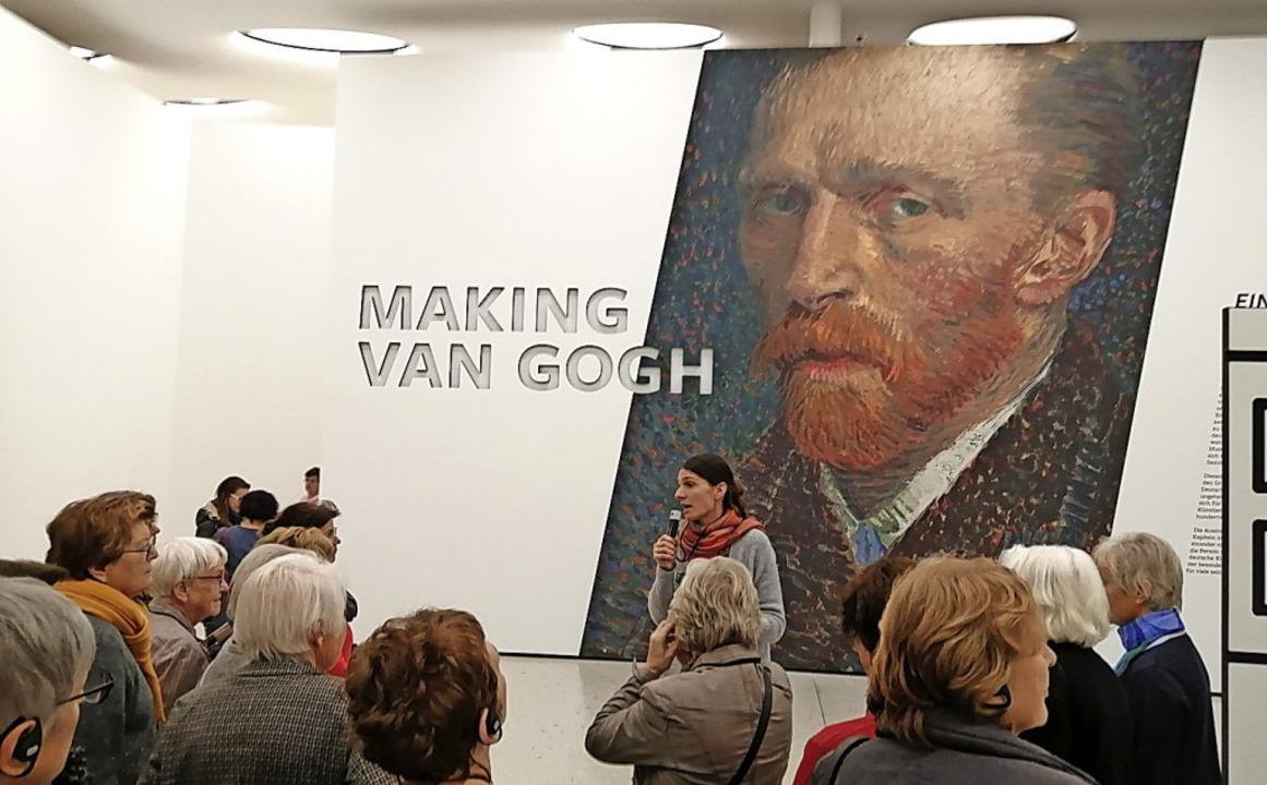 Die Gruppe des CFA Waldkirch-Sélestat ...wöhnliche Van-Gogh-Ausstellung läuft.   | Foto: Sylvia Sredniawa