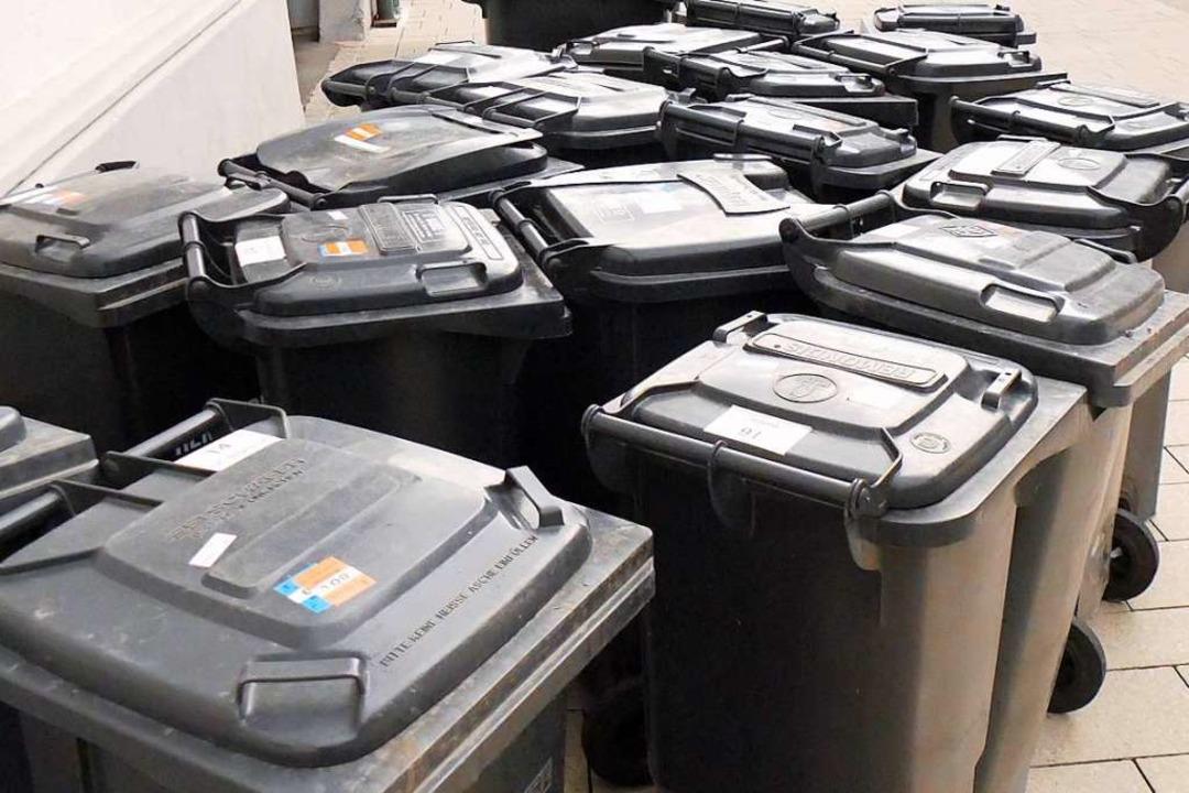 Die Kreisbewohner können sich freuen: ... die Müllgebühren stabil (Archivbild).  | Foto: Marius Alexander