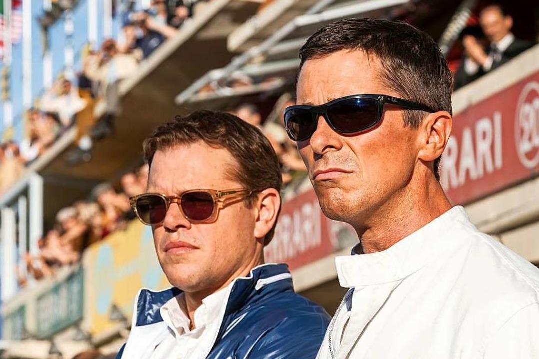 Denker (Matt Damon, links)  und Lenker...ürs 24-Stunden-Rennen von Le Mans 1966  | Foto: - (dpa)