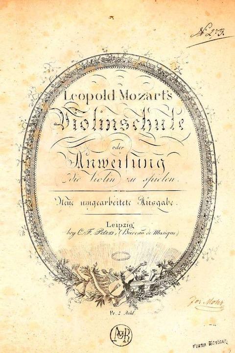 Titelseite der Violinschule in einer Ausgabe von 1804    Foto: Repro: BZ