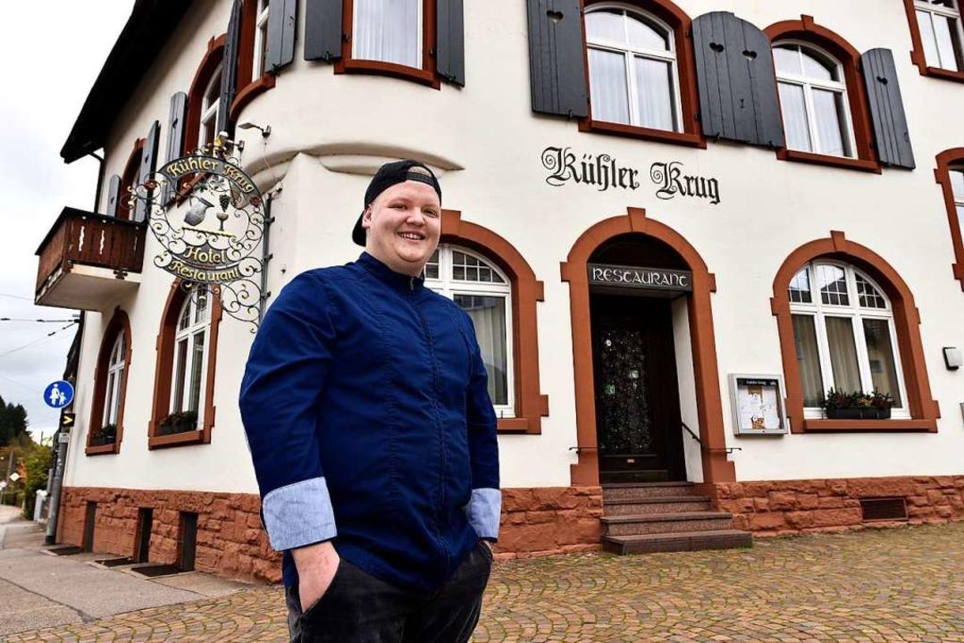 Nico Stachel (24) ist der neue Betreiber des Kühlen Krugs in Günterstal.  | Foto: Thomas Kunz