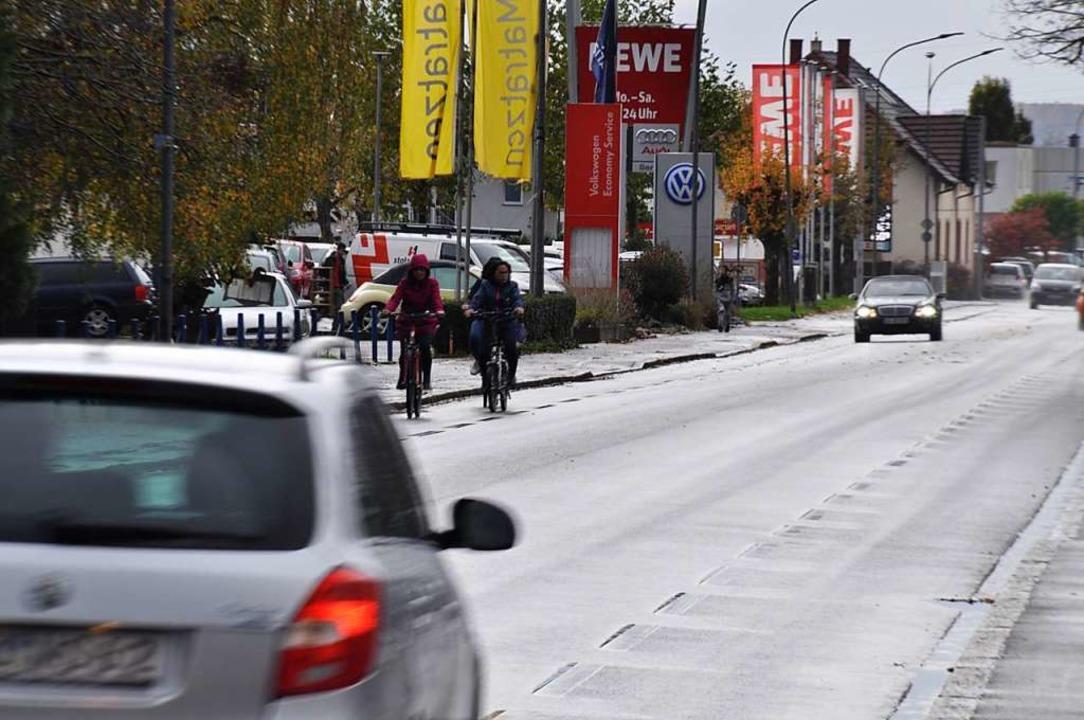 Grund zur Diskussion: Viele Räte sehen...s ideale Trasse für den Radschnellweg.  | Foto: Nicolai Kapitz