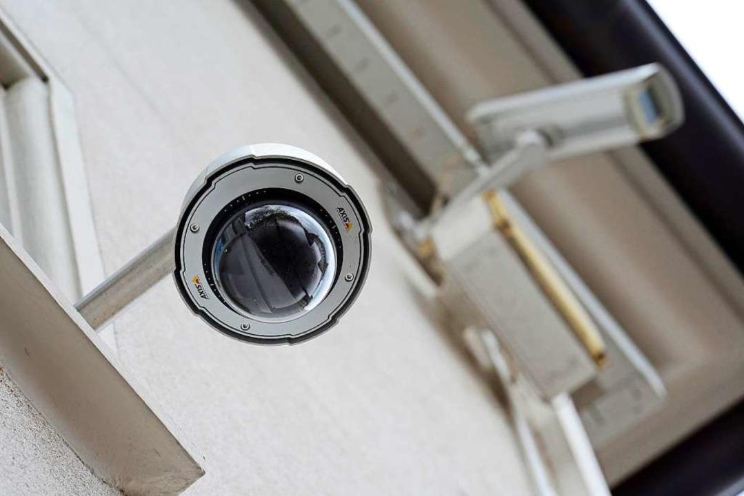 Überwachungskameras in der Innenstadt ...n potenzielle Gewalttäter abschrecken.  | Foto: Ingo Schneider
