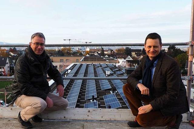 Eine neue Wohnanlage in Weil an Rhein bezieht ihren eigenen Strom vom Dach