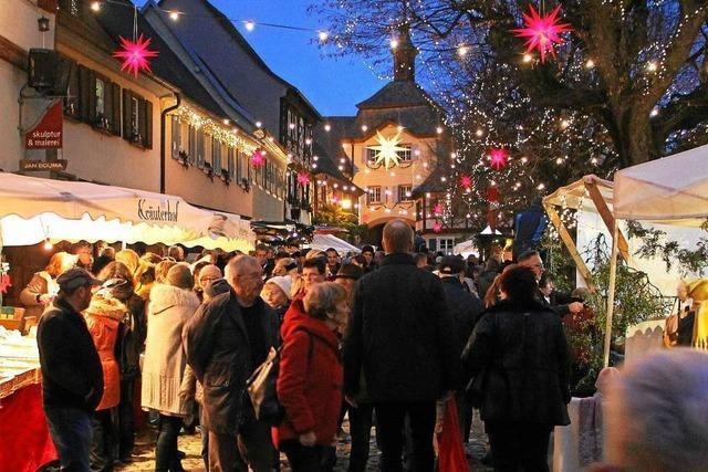 In der Burkheimer Mittelstadt findet einer der schönsten Weihnachtsmärkte der Region statt