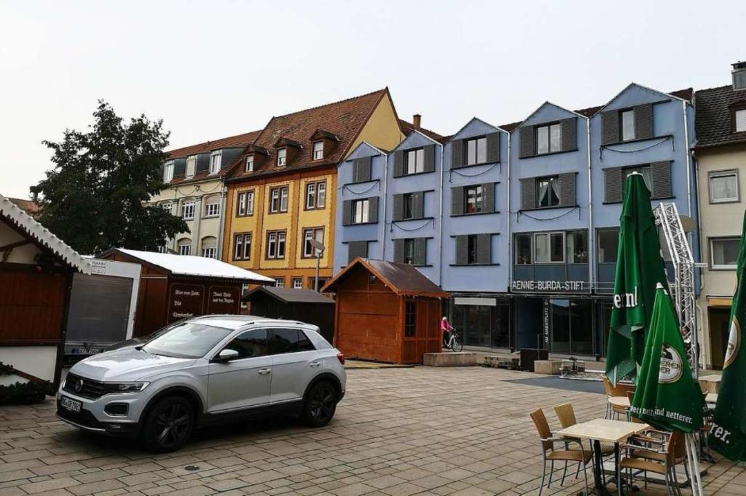 Am Offenburger Marktplatz ist ein leer...andort des künftigen UnverpacktLadens.    Foto: Ralf Burgmaier