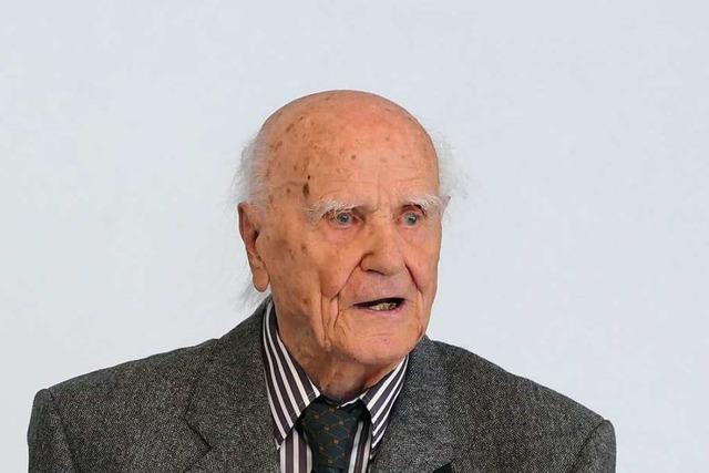 Interessiert und leutselig: Max Schreiber in Waldkirch hat 100. Geburtstag