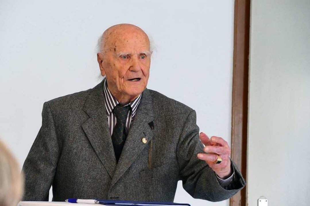 Max Schreiber feierte am 14. November seinen 100. Geburtstag.  | Foto: Sylvia Sredniawa