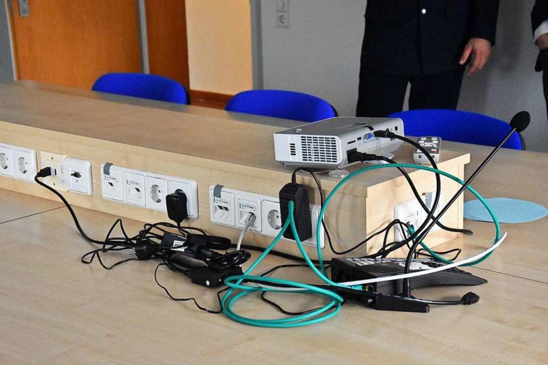 Hier kann ein Lagezentrum eingerichtet...n – Strom gibt's für alle.  | Foto: Kathrin Ganter