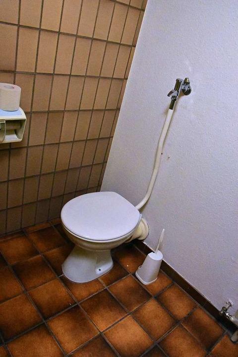 Nicht sanierte Toilette  im neuen Revier  | Foto: Kathrin Ganter