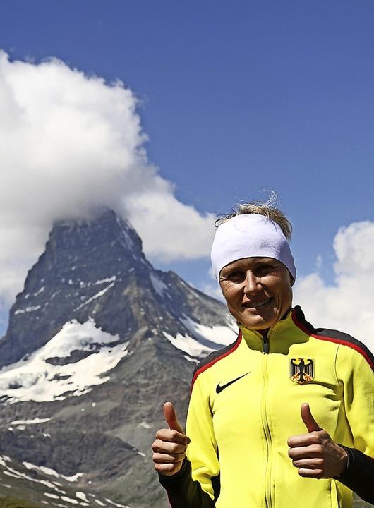 Gipfelstürmerin: Bergläuferin Stefanie Doll    | Foto: Stinn