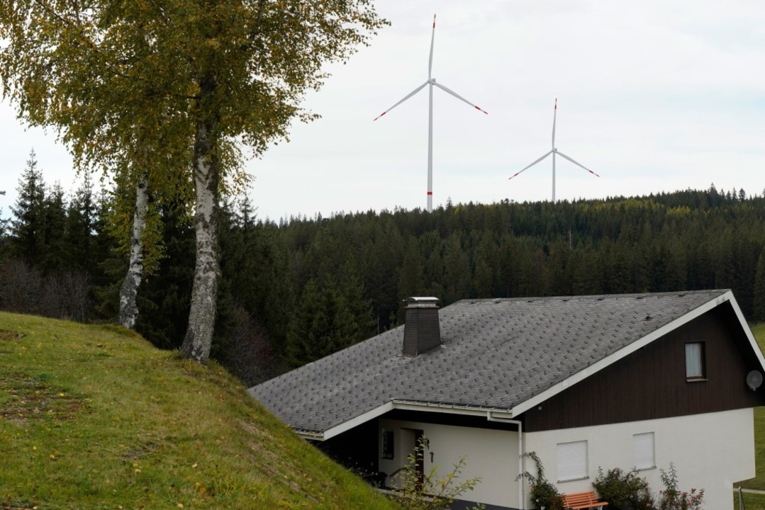 So könnte die geplante Windkraftanlage bei Schollach aussehen.   | Foto: EnBW