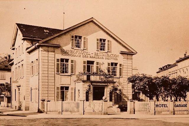 Das Bahnhof-Hotel war seinerzeit der Mittelpunkt von Lörrach