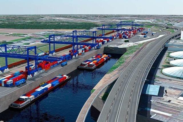 An der Grenze zwischen Weil und Basel soll eine Logistikdrehscheibe entstehen