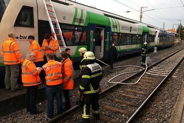 Brand in Breisgau-S-Bahn legt Freiburger Hauptbahnhof lahm