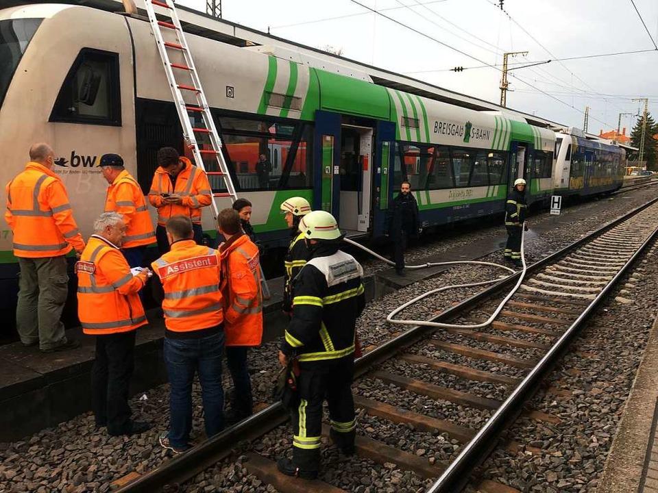 In einem Wagen der Breisgau S-Bahn hat...tbahnhof Freiburg einen Brand gegeben.  | Foto: Simone Höhl