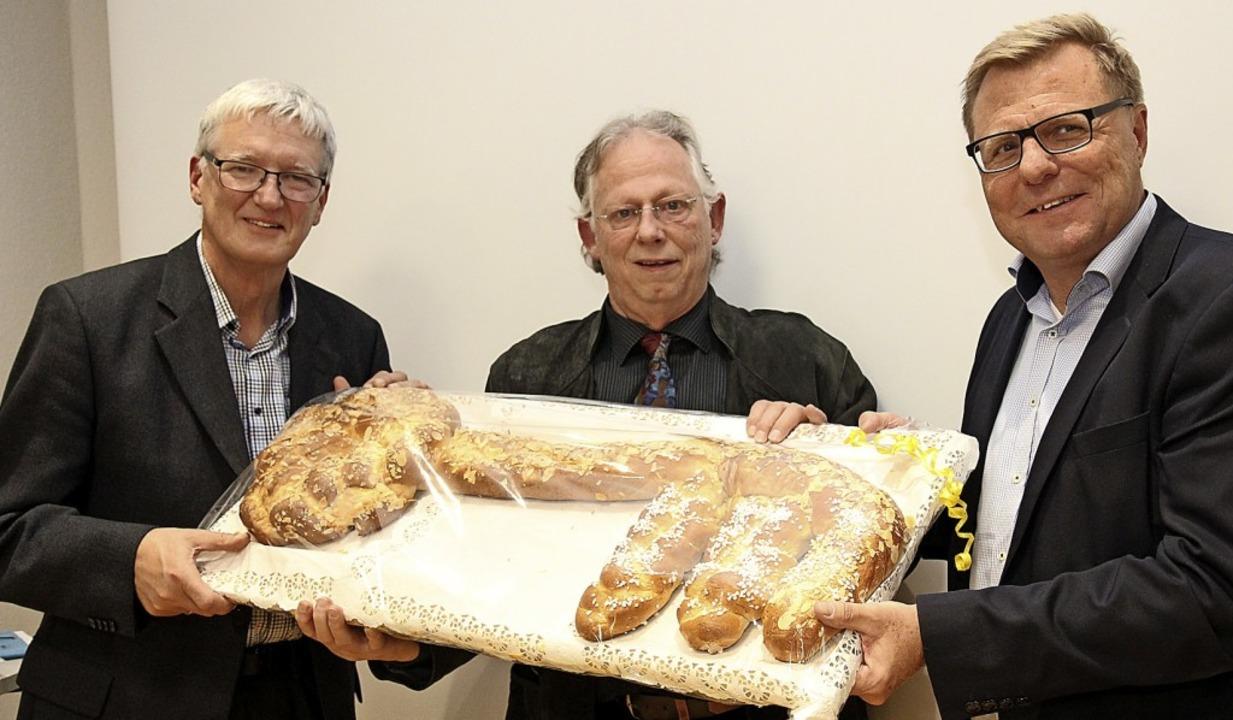 Freude bei  der Einweihung der neuen R...) und Geschäftsführer Norbert Köthnig   | Foto: Dagmar Barber