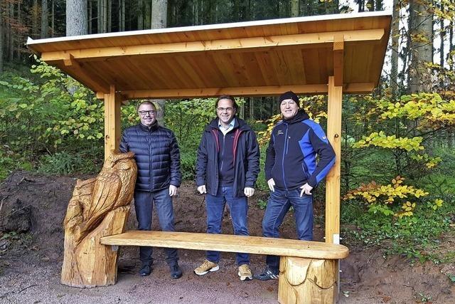 Neue Skulptur in Schuttertal