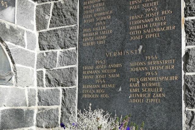Gedenken an Kriegsopfer