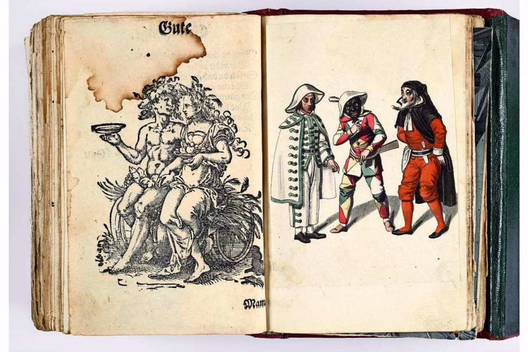 Eine schwarze Commedia dell'arte... im Stammbuch  Ludwig Achim von Arnims  | Foto: DLA-Marbach, www.dla-marbach.de