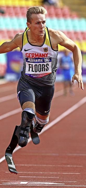 Prothesenläufer Johannes Floors  | Foto: Jens Büttner (dpa)
