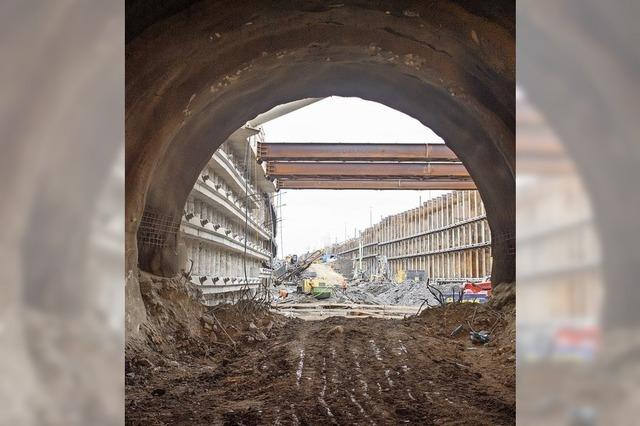 Tunneldurchschlag in Stuttgart