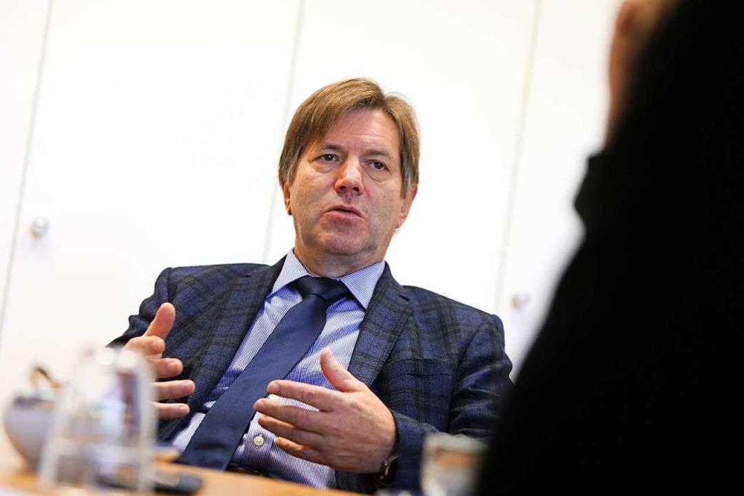 SWEG- Vorstandsvorsitzender Johannes Müller im BZ-Interview.  | Foto: Christoph Breithaupt