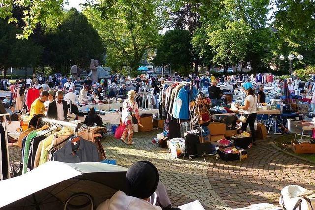 Der Lörracher Flohmarkt wird noch kleiner werden