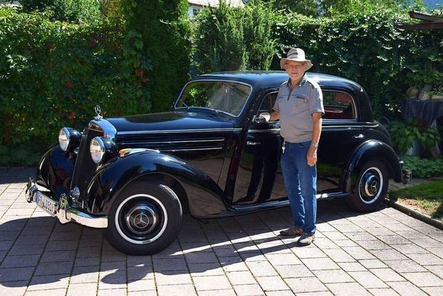 Ludwig Willmann vermietet seinen Mercedes 170 S für Hochzeiten