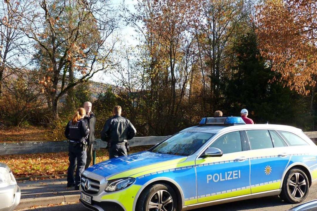 Bürger riefen die Polizei zum Brennet-Park.  | Foto: Dirk Sattelberger