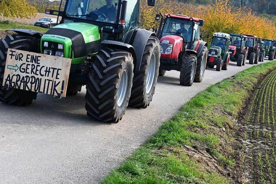 Demonstration der Landwirte gegen die Agrarpolitik der Bundesregierung (Foto: Jonas Hirt)