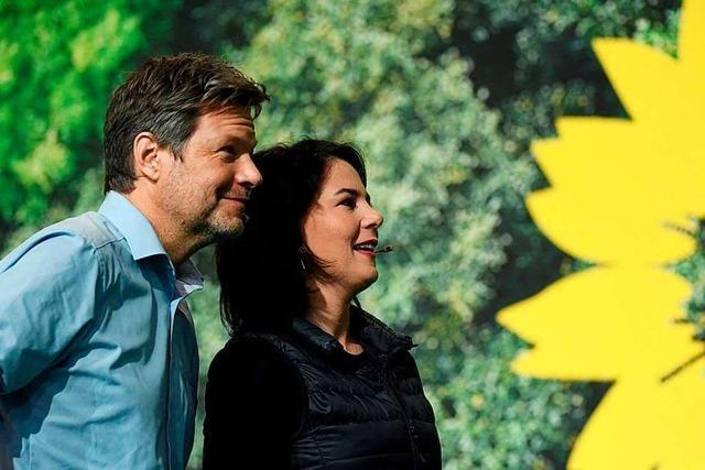 Grünen-Chefs Habeck und Baerbock wiedergewählt