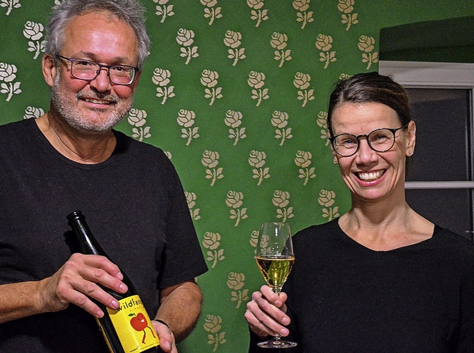 "Apfelwein, der fein perlt: Andrea Jauc...dre der Marke ""Wildfang"".   | Foto: Gabriele Hennicke"
