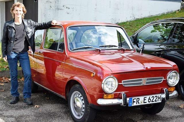 Susanne Isele fährt einen Fiat 850 Spezial, der 29 Jahre im Autohaus stand