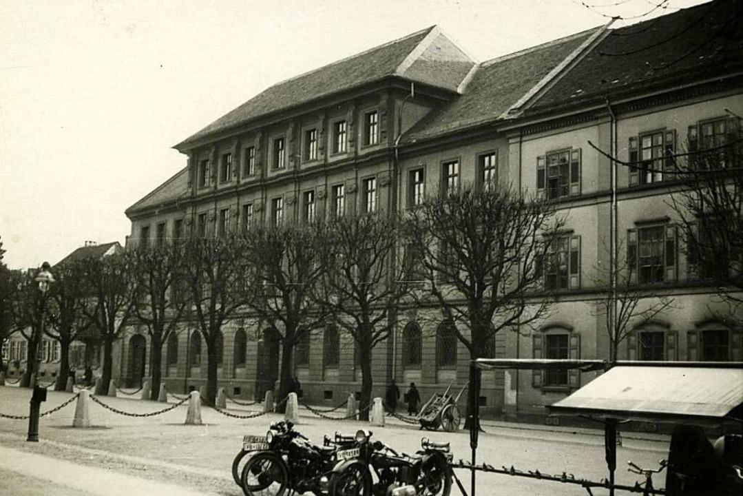 Das Land- und Amtsgericht um 1930.  | Foto: Foto Stadtarchiv Freiburg