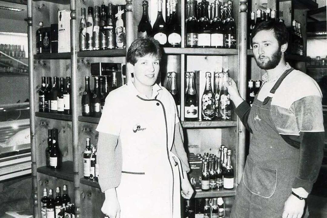Jürgen und Brigitte Villinger nach der Geschäftsübernahme 1981.  | Foto: Roland Weis