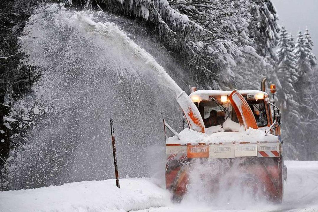 Schnee ist Materie am falschen Platz &...terdienst bei Hofsgrund im Januar 2015  | Foto: Patrick Seeger