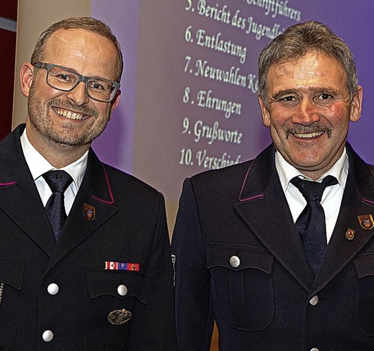 Michael Reiner (links) und Jürgen Lindner sind die Stellvertreter.  | Foto: Wolfgang Scheu