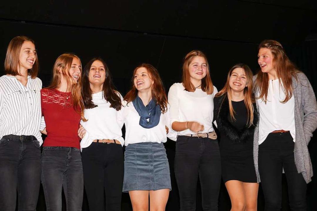 Strahlende Siegerinnen: die U-16-Leichtathletinnen des TVN  | Foto: Eva Korinth