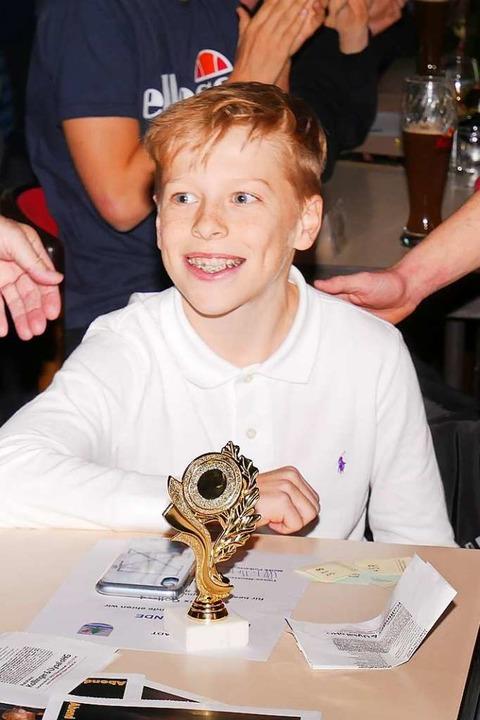 Strahlender Sportler des Jahres: Felix Gollrad  | Foto: Eva Korinth
