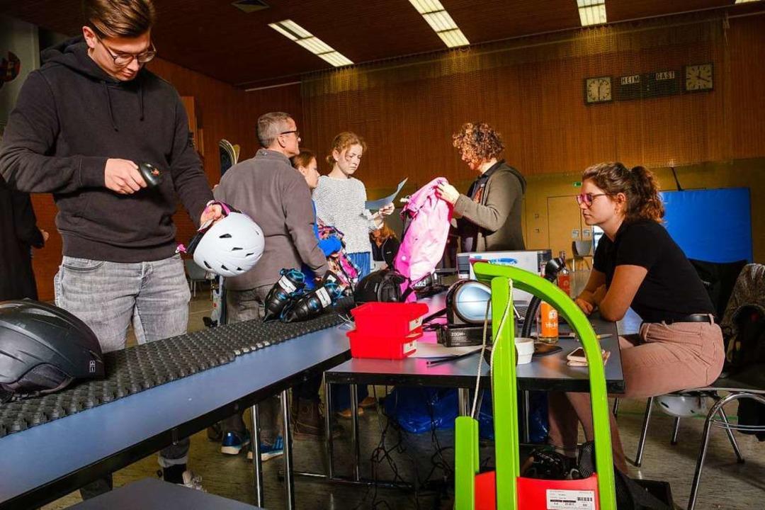 Vollautomatisiert abgerechnet: Der SC Brombach setzt Scanner ein.  | Foto: Ansgar Taschinski