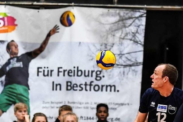Fotos: Volleyballer von 1844 Freiburg verabschieden sich mit Niederlage aus Burdahalle