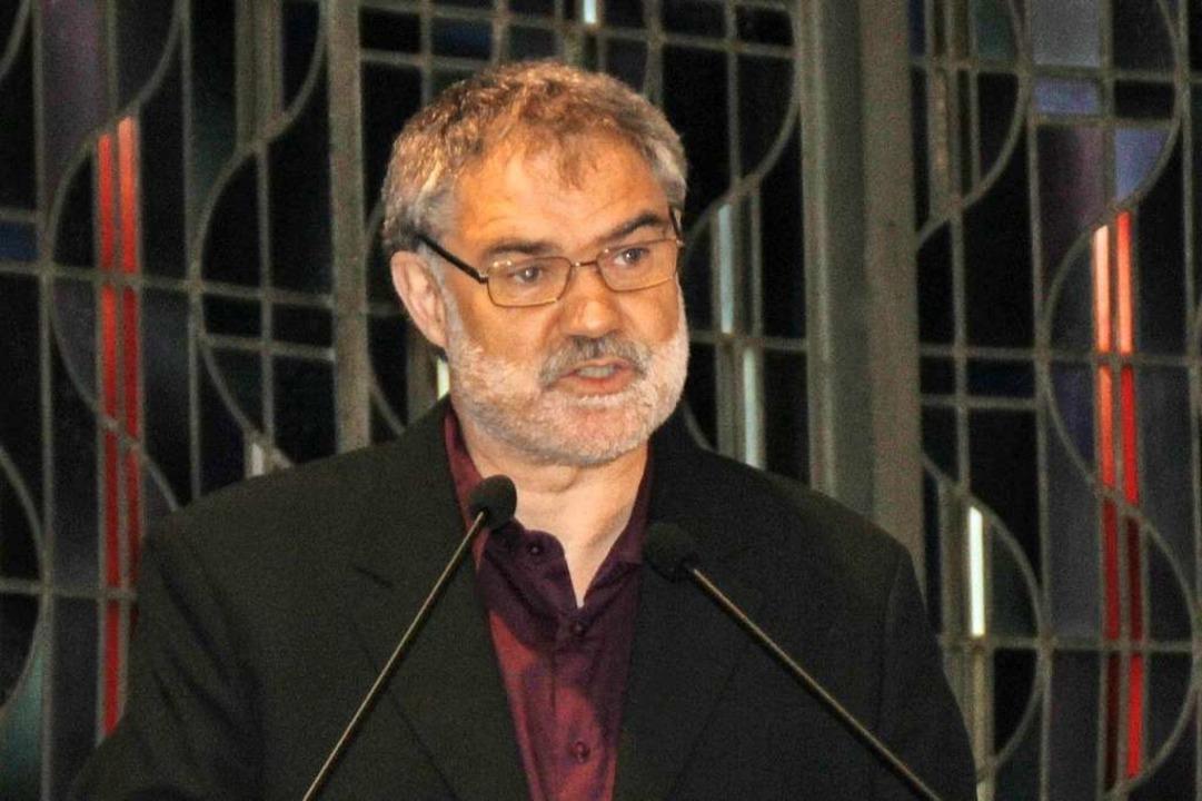 Armin Zimmermann sprach in Rheinfelden.    Foto: Rolf Reißmann