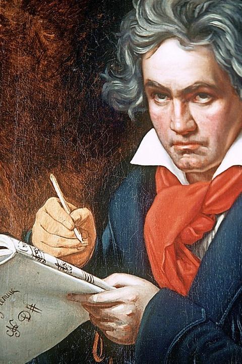 Joseph Karl Stielers Beethoven-Porträt (1820)  | Foto:  DPA Deutsche Presse-Agentur GmbH
