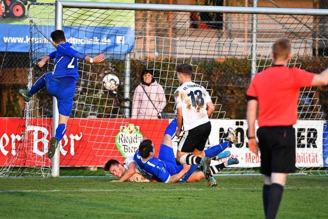 Stipe Malenica beim 2:1 für Endingen.  | Foto: Achim Keller