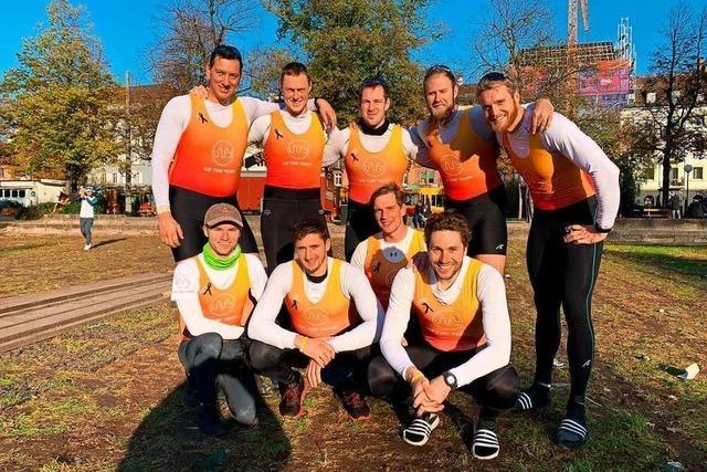 In Erinnerung an einen Freiburger Athleten: Acht Männer rudern für Yannic Corinth
