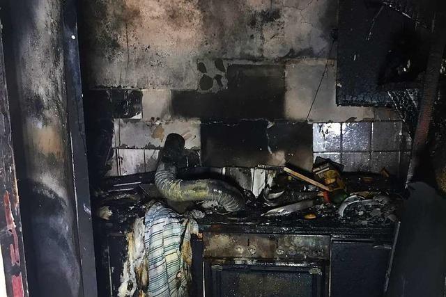 Küchenbrand in Oberprechtal griff schon aufs Wohnzimmer über